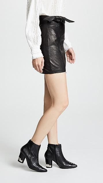 J Brand Christa Zip Miniskirt