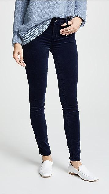 3c602256392b8 J Brand 815 Mid Rise Velvet Super Skinny Pants