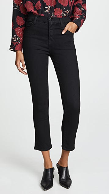 J Brand Ruby High Rise Crop Cigarette Jeans