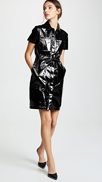 J Brand Lucille Leather Shirtdress