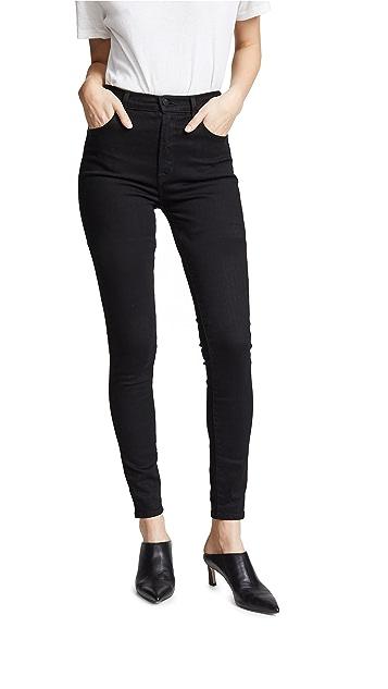 J Brand Расклешенные джинсы Carolina с очень высокой посадкой