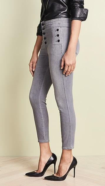 J Brand Укороченные джинсы-скинни Natasha Sky с высокой талией