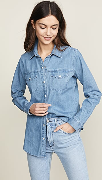J Brand Perfect Denim Shirt - Blue Shift
