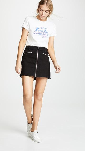 J Brand Moto Skirt