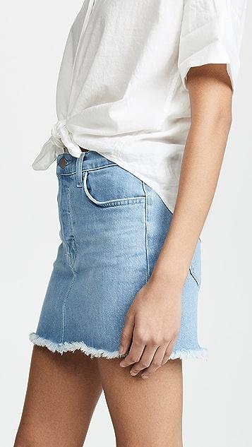 J Brand Bonny Mid Rise Miniskirt
