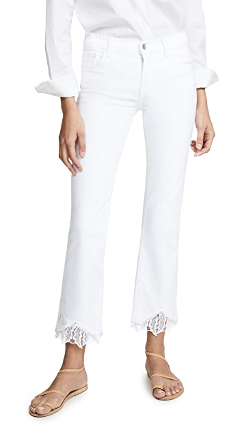 J Brand Selena Mid Rise Crop Jeans