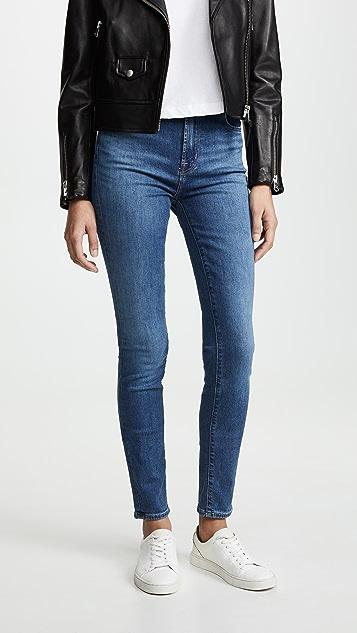 J Brand Carolina 超高腰紧身牛仔裤