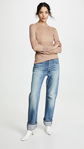 J Brand Andrea Long Sleeve Slim Sweater