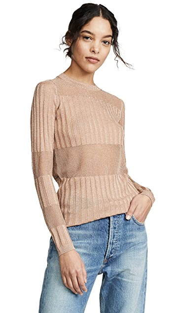 J Brand Andrea Long Sleeve Slim Sweater