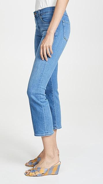 J Brand Selena Mid Rise Boot Cut Crop Jeans