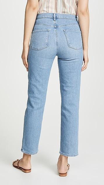 J Brand Jules High Rise Straight Jeans