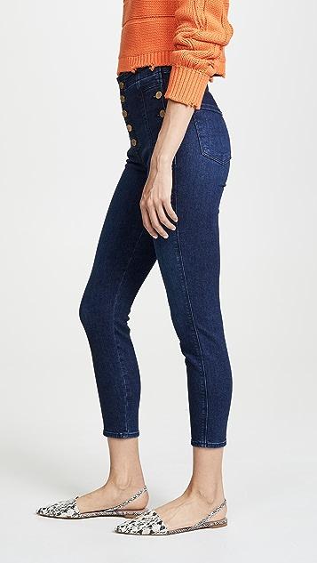 J Brand Natasha Sky High 九分紧身牛仔裤