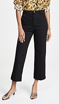 Joan High Rise Cropped Trousers