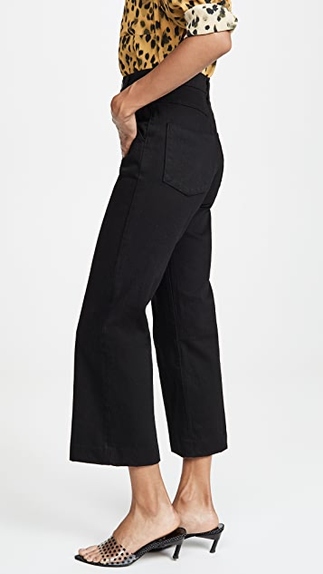 J Brand Joan High Rise Cropped Trousers