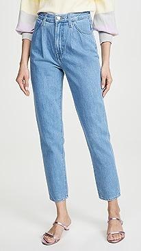 Pleat Front Peg Jeans