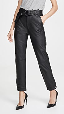 Jonah High Rise Leather Pants