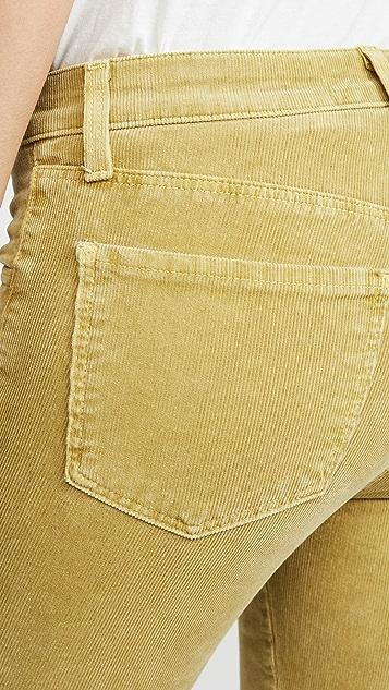 J Brand 835 中腰紧身灯芯绒裤子