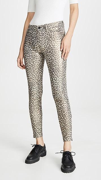 J Brand L8001 Mid Rise Skinny Leather Pants