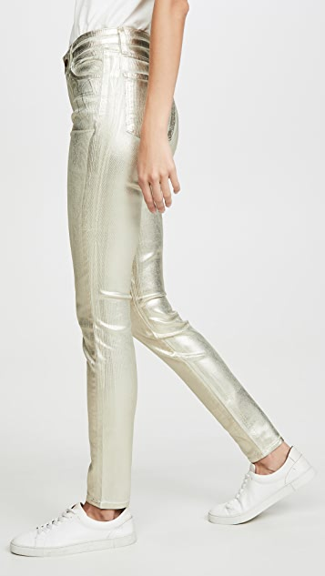 J Brand Maria 高腰紧身灯芯绒裤子