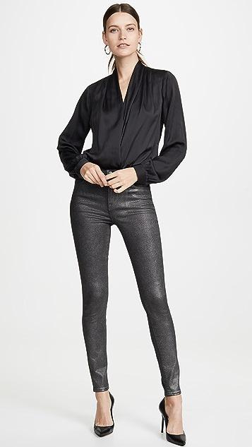 J Brand Maria Coated High Rise Skinny