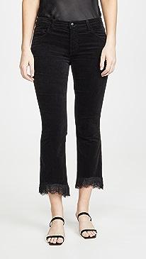 Selena Mid Rise Crop Bootcut Pants