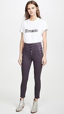 Natasha Coated Sky High Skinny Jeans