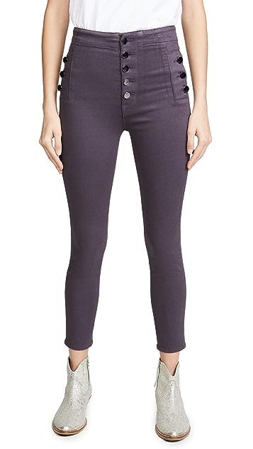 J Brand Natasha Coated Sky High Skinny Jeans