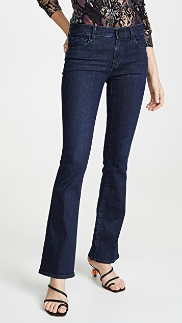 J Brand Sallie Mid Rise Boot Cut Jeans