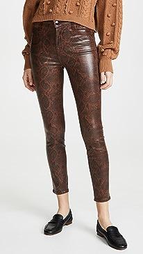Alana High Rise Coated Crop Skinny Jeans