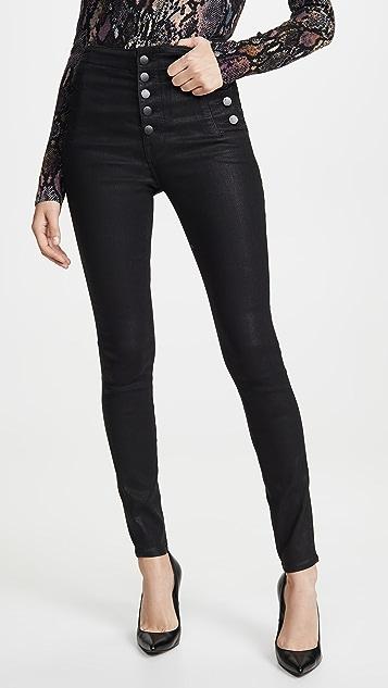 J Brand Natasha Sky High 涂层紧身牛仔裤