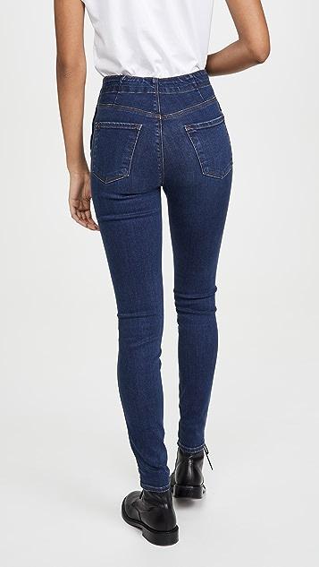J Brand Natasha Sky 高腰紧身牛仔裤