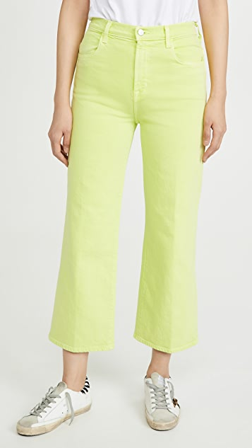 J Brand Joan High Rise Crop Wide Leg Jeans