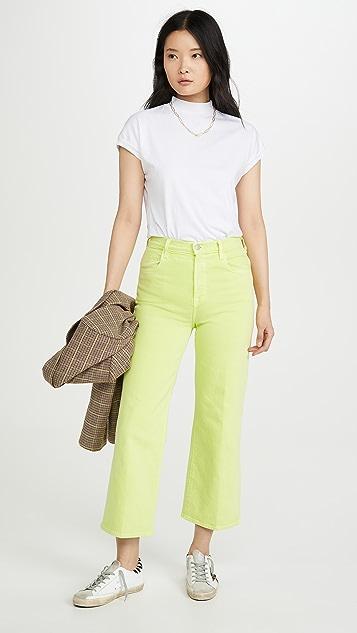 J Brand Укороченные широкие джинсы Joan с высокой посадкой