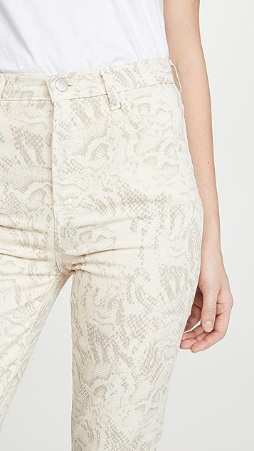 J Brand Прямые джинсы Jules с высокой посадкой