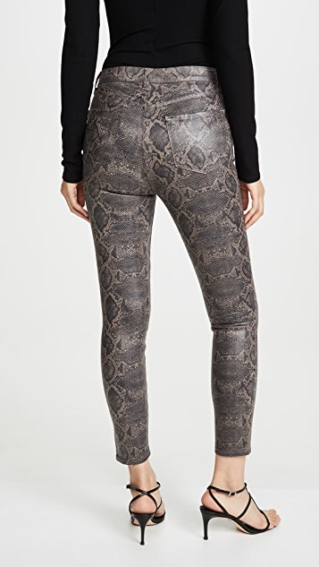 J Brand Lillie Coated High Rise Crop Skinny Jeans