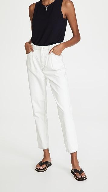 J Brand 正面裥褶小脚牛仔裤