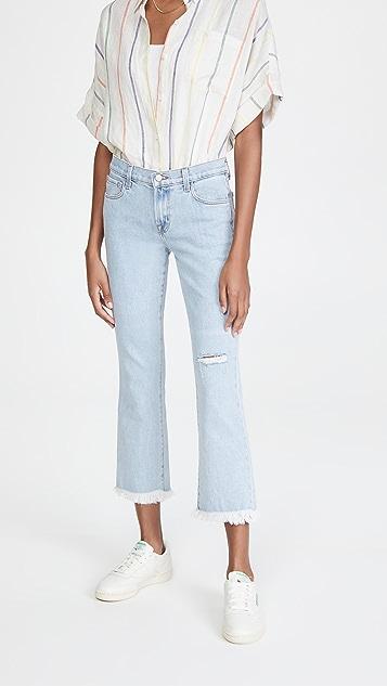 J Brand Selena 中腰中长喇叭牛仔裤