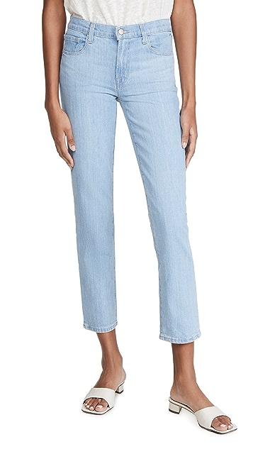 J Brand Adele Mid Rise Straight Jeans
