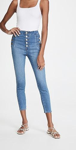 J Brand - Natasha Sky High Crop Skinny Jeans