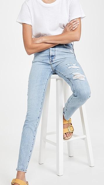 J Brand 1212 Runway High Rise Slim Straight Jeans