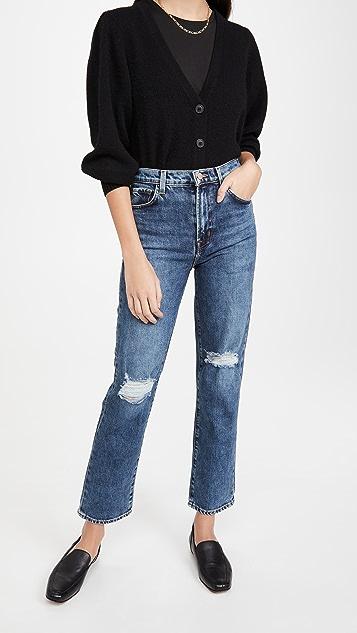 J Brand Jules 高腰直脚牛仔裤