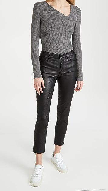 J Brand Adele 中腰直脚裤