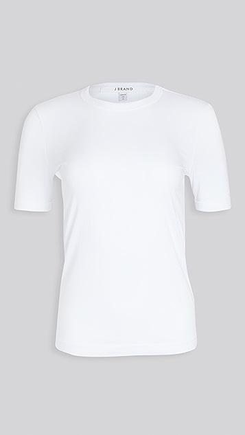 J Brand Marta 短袖圆领 T 恤