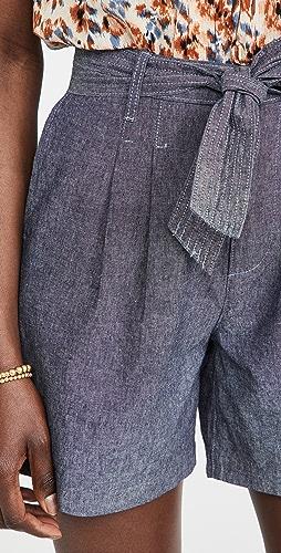 J Brand - 系带腰部裥褶短裤