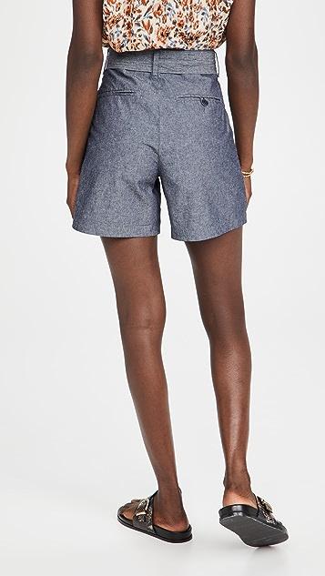 J Brand Tie Waist Pleated Shorts