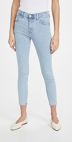J Brand - Alana 高腰紧身九分牛仔裤