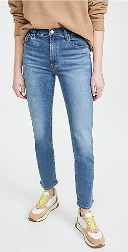 J Brand - Teagan 高腰直筒牛仔裤