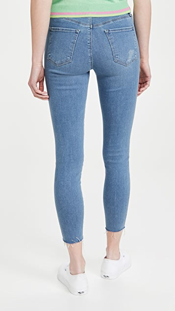 J Brand Alana 高腰紧身九分牛仔裤