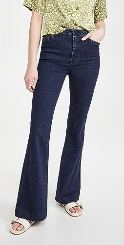 J Brand - 捏褶高腰喇叭牛仔裤