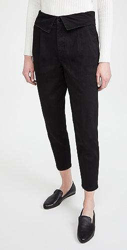 J Brand - 正面裥褶翻折长裤